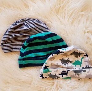 3 Newborn Hats